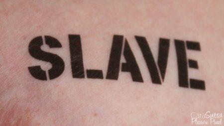 Kinky BDSM Bondage Temporary Tattoos Review (Slave, Bitch, Slut, Pig)