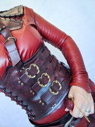 Mistress Cara Red Leather Mord-Sith Cosplay Outfit-66