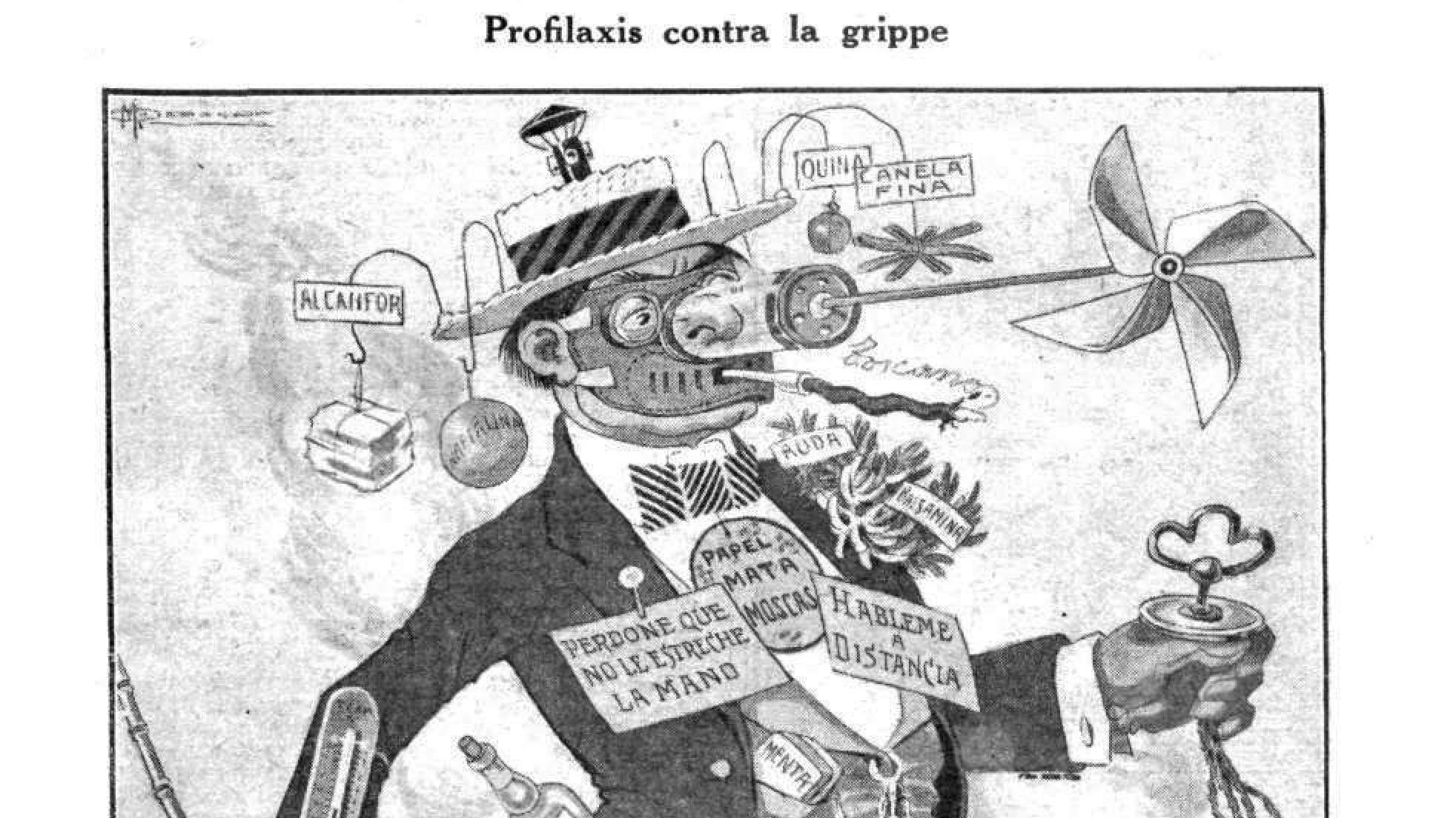 La gripe española – Caras y Caretas