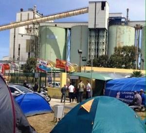 Alcoa in lotta Ferragosto 2014 in tenda
