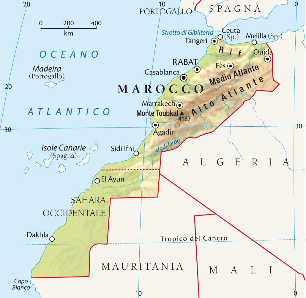Cartina Politica Del Marocco.L Evoluzione Economica Del Marocco Caratteri Liberi