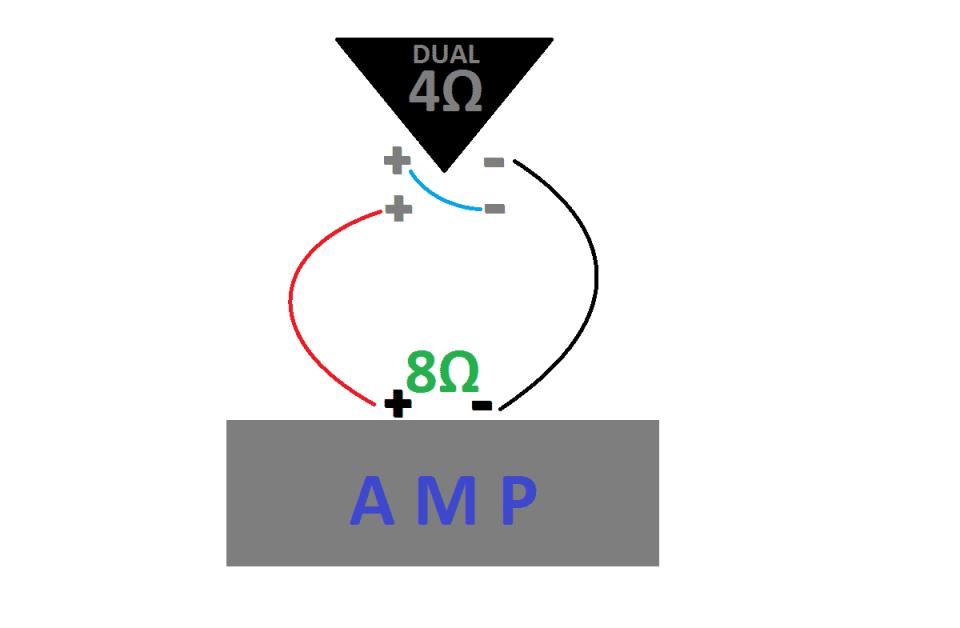 Single dvc 4 ohm wiring