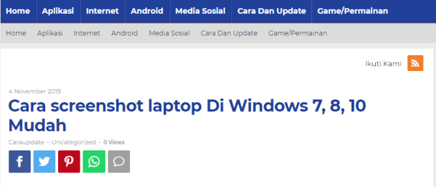 Cara screenshot laptop