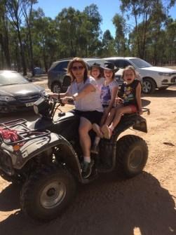 Fun on the Quad Bike with Fiona, Tara, Jess and Emma
