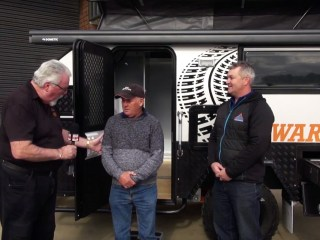 Winner picks up his awesome eagle warrior hybrid camper thanks to caravan camping classifieds & whats up downunder