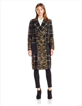 Rachel Zoe Women's Agatha Lurex Plaid Coat