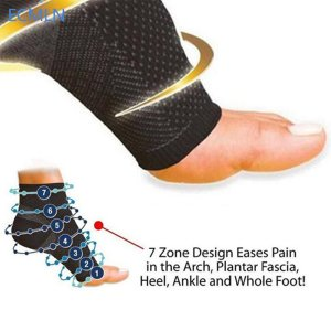 Elastic Women & Men ECMLN Comfortable Foot Sleeve Men's Socks Anti Fatigue Women Circulation Ankle Socks 2017 Hot