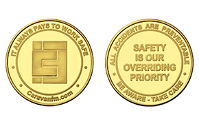 Caravan Facilities Management Safety Coin
