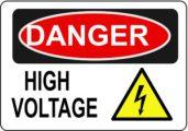 Danger Electric Shock safety sign