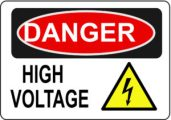 Danger Electric Shock safety sign