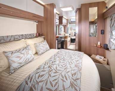 Advance 74-2 rear bedroom featuring an island bed