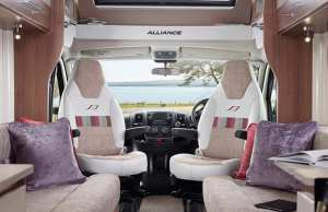 The Alliance cab with captain's seats in 'Portland' soft furnishings