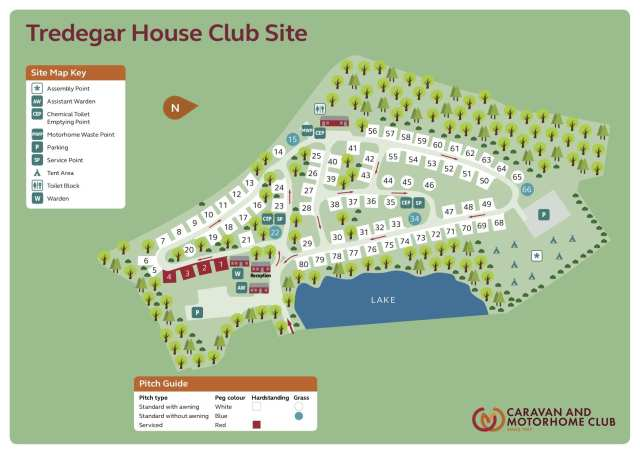 Tredegar House Club Site map.