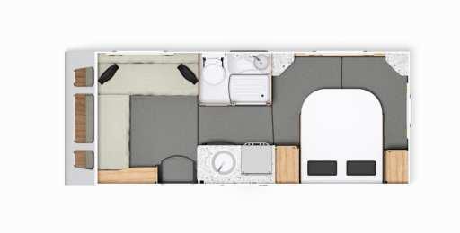 Elddis Avante 454 - FloorPlan