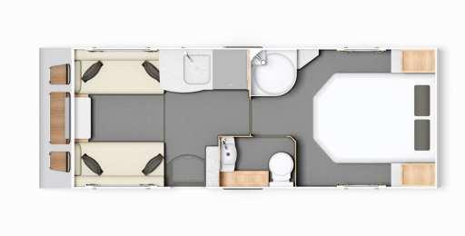 Elddis Avante 550 - FloorPlan