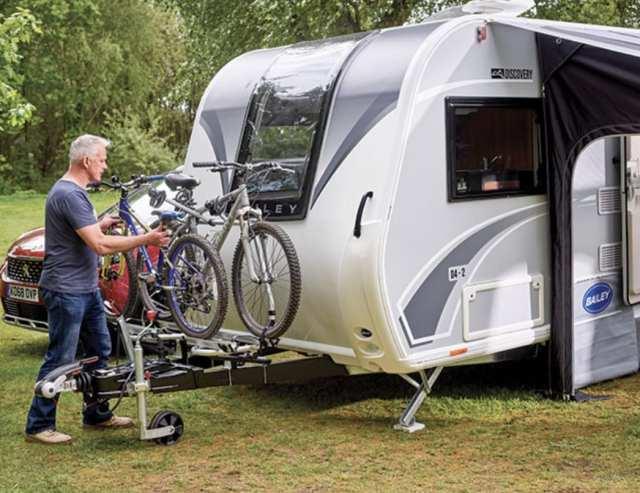 A frame mounted Thule bike rack