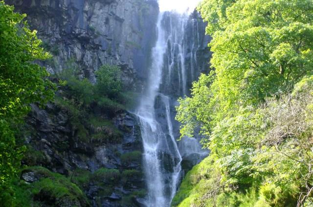 UK's Seven Natural Wonders. Pistyll Rhaeadr waterfall, north Wales