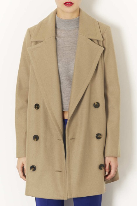 Topshop, Double Breasted Pea Coat