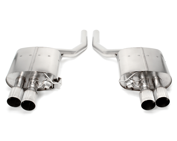 d660 0036 dinan free flow exhaust with polished tips for bmw f10 550i