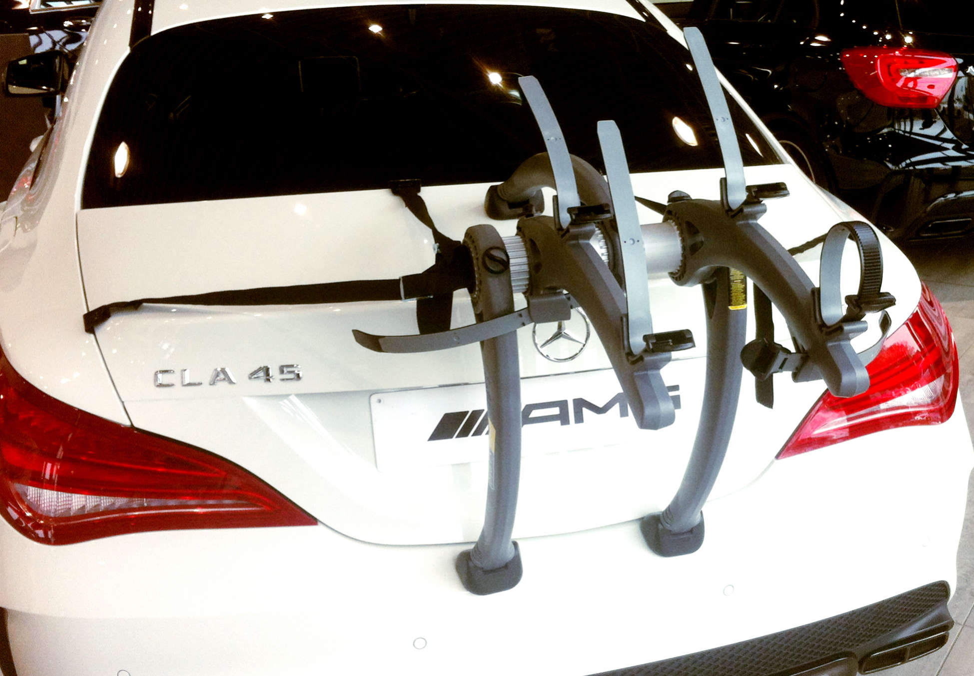 Mercedes cla bike rack the best out there modern arc for Mercedes benz bicycle rack