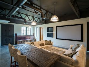Home cinema and dining table