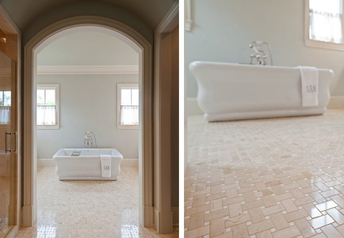 New Home Custom Custom Bathroom in Tollgate Village by Carbine & Associates