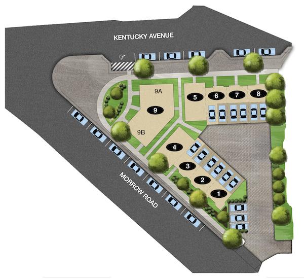 Kenrow Corner, Site Plan, Carbine & Assoc., The Nations, Nashville, TN