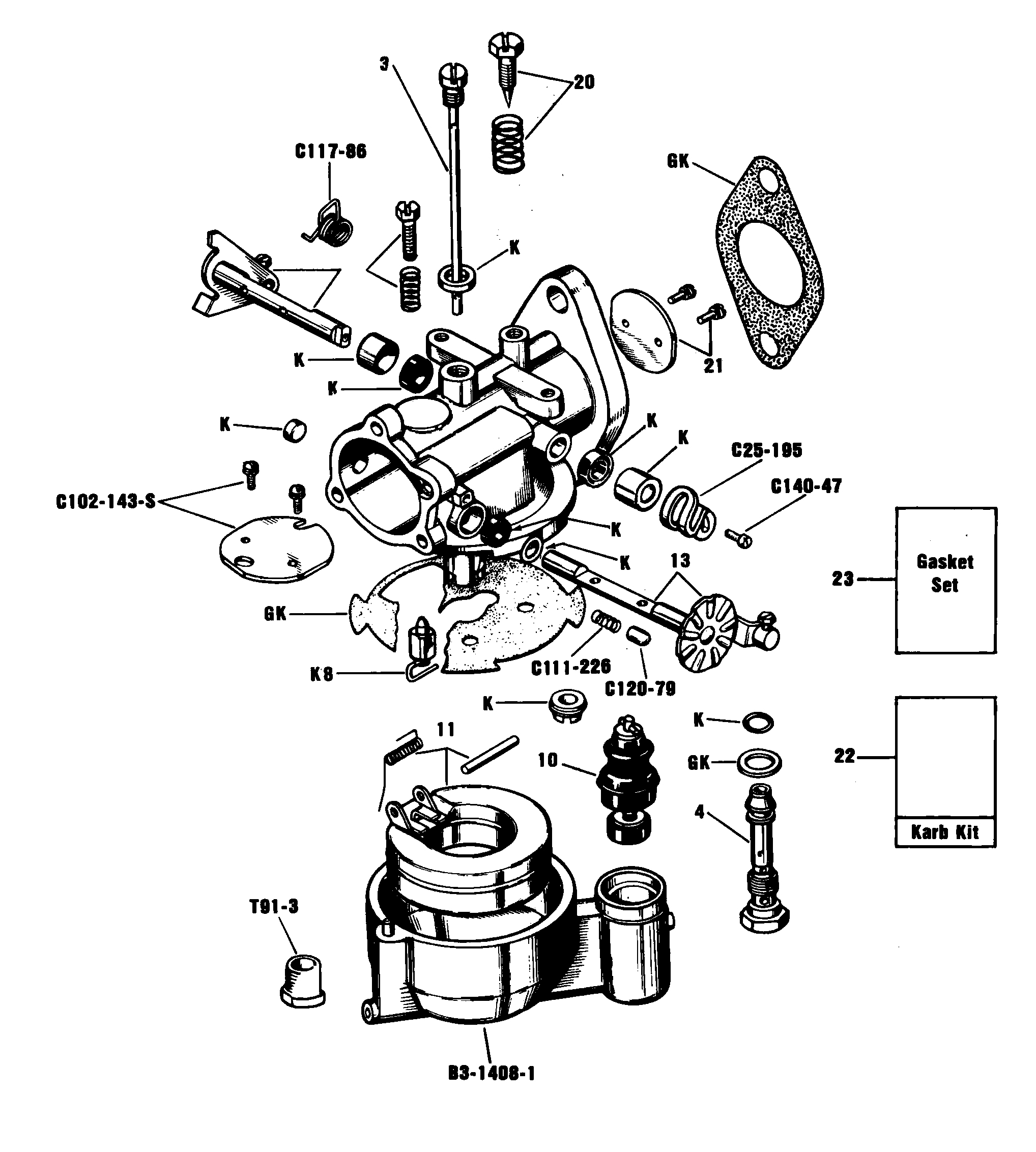 Zenith Carburetor Kit Float And Manual