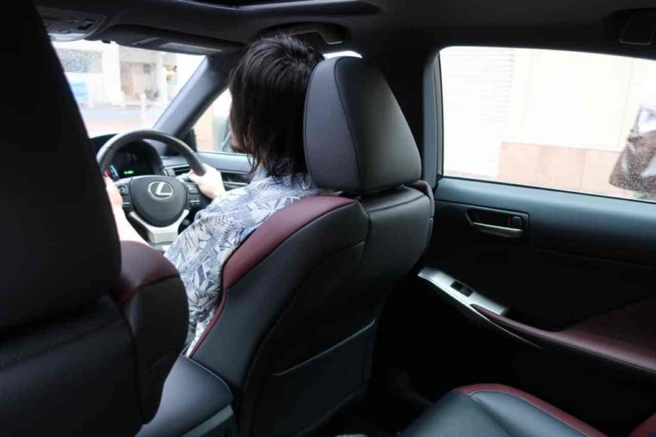 レクサスISの運転姿勢