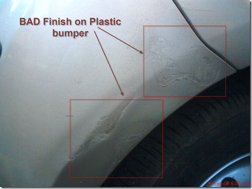 bad finish on plastic bumbers