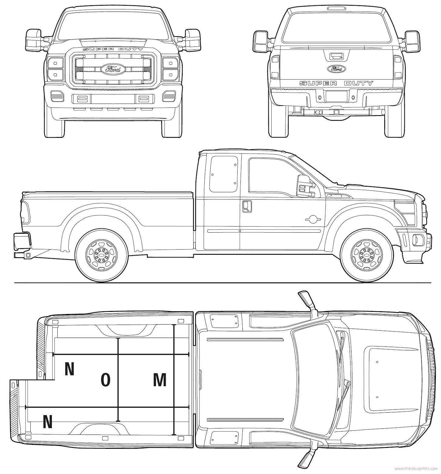 Ford Pickup Blueprints
