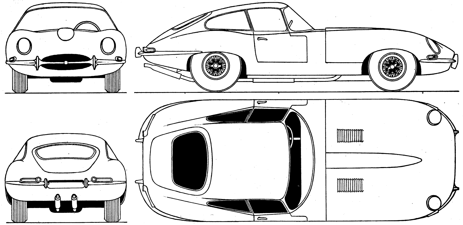 Triumph Sports Car Cartoon