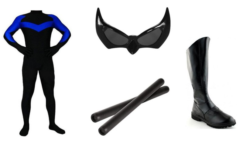 how to make a nightwing halloween costume | Cartoonsite.co