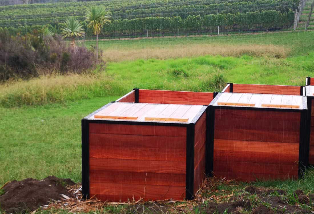 CarbonCycle Composting at Eden Park at Waiheke Winery