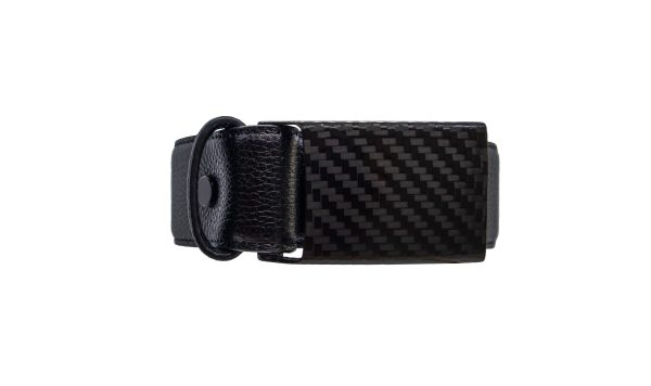 black carbon design exclusive leather belt rolled up