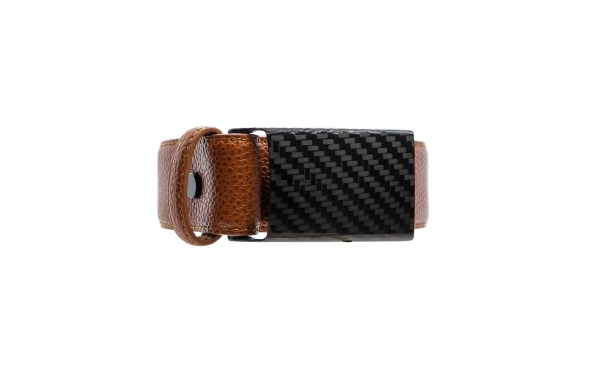 brown carbon design exclusive leather belt