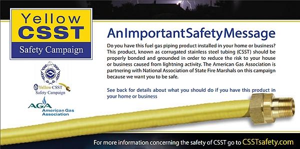Carbon Monoxide Myths, CCST safety brochure front
