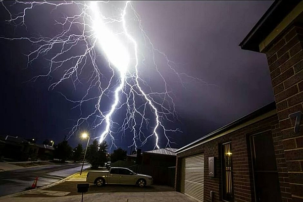 Carbon Monoxide Myths, lightning strikes house