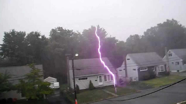 Carbon Monoxide Myths, lightning strikes front of house