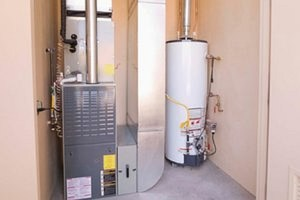 upflow furnace with a-coil and water heater