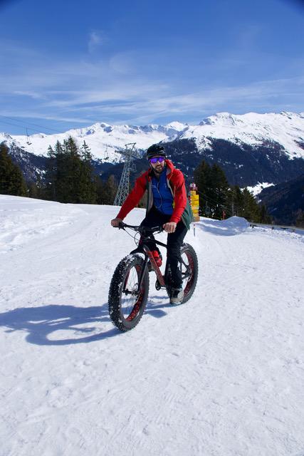 Biker in the Snow at Davos