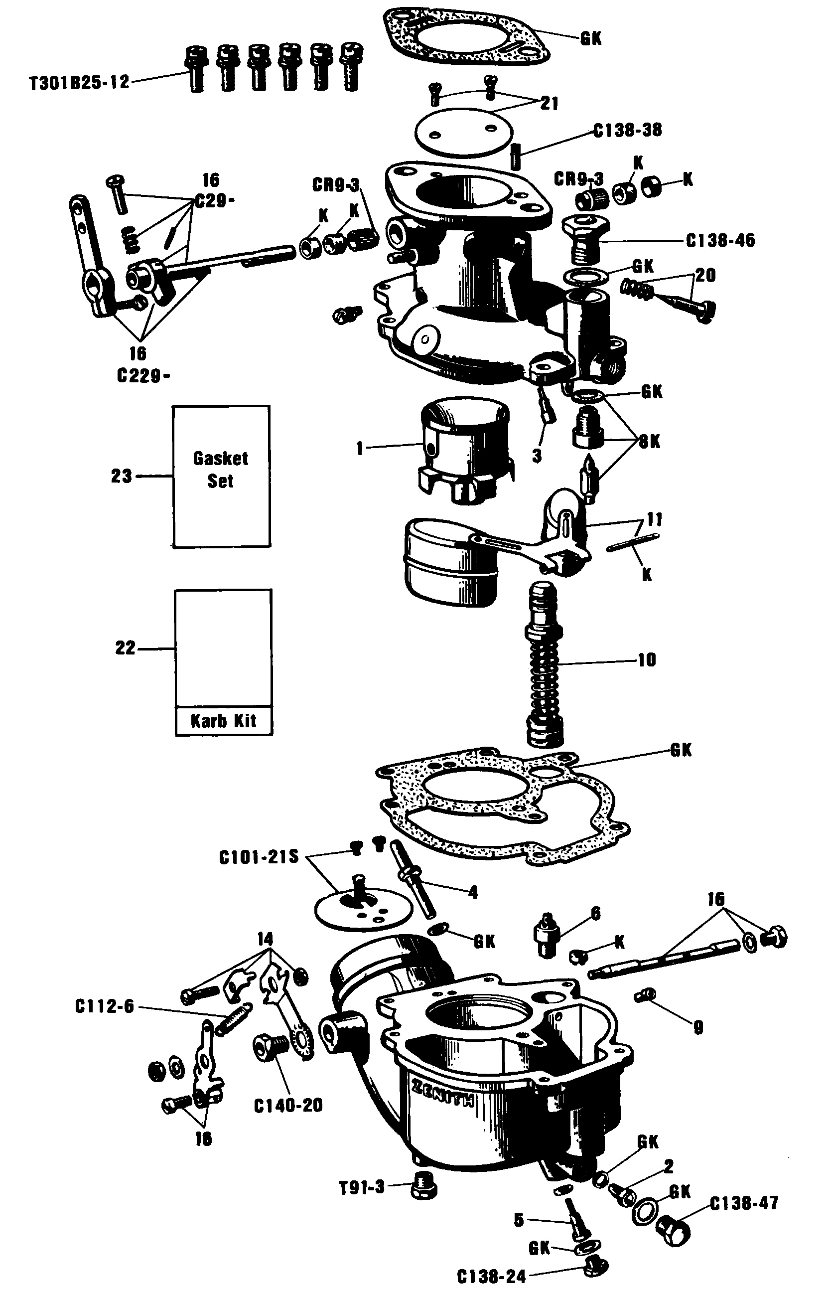 Model A Zenith Carburetor Diagram Pictures To Pin On