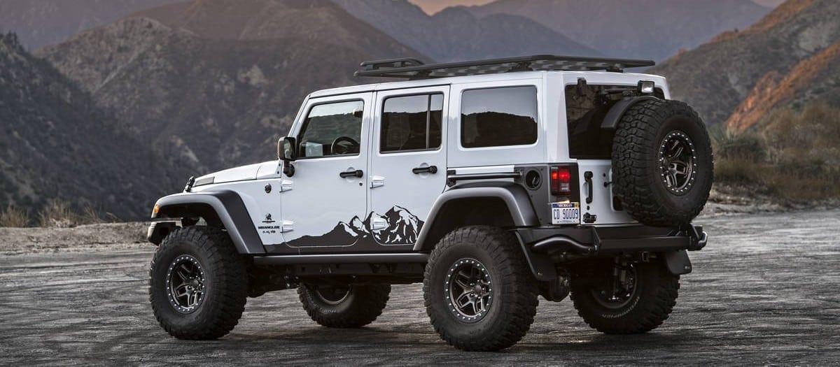 fully loaded aev jeep wrangler looks