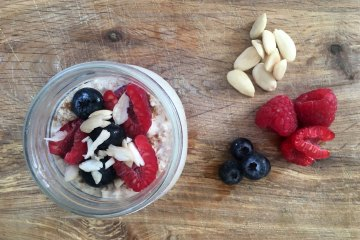 Diabetic breakfast - overnight oats