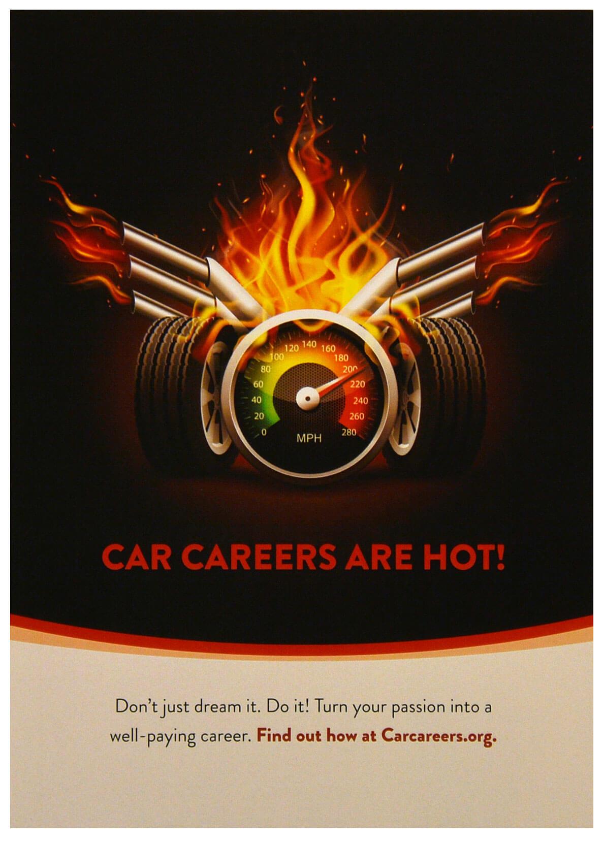Car Lover Themed Postcard 5x7