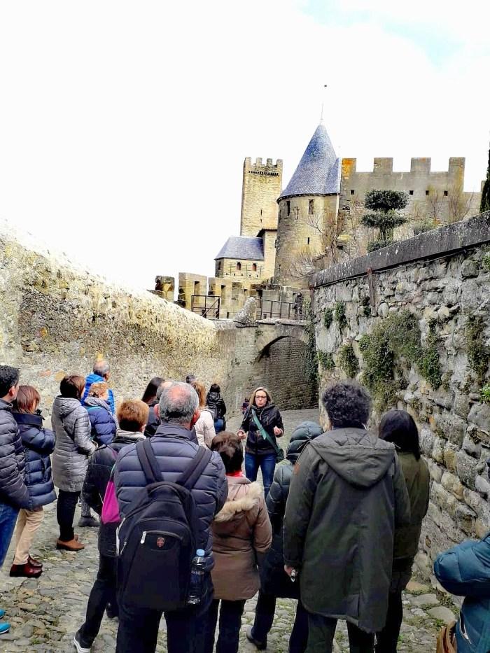 Guide speaker Anna Philippe Cité de Carcassonne