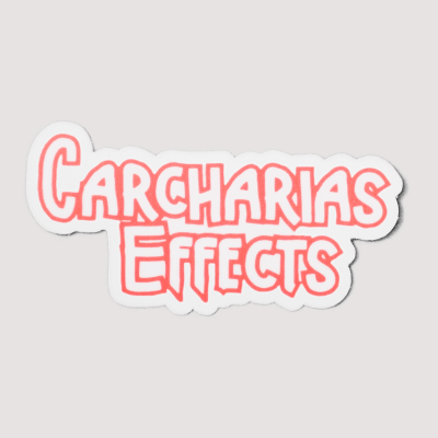 Carcharias Effects logo sticker new