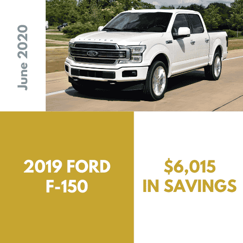 2019 Ford F-150, $6,015 in savings through Car Concierge Pro