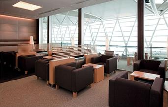 新千歳空港の空港ラウンジ「ロイヤルラウンジ」(国際線ターミナル4階)