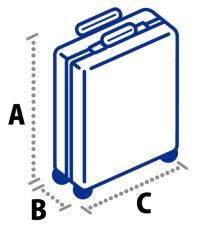 ANA 手荷物の3辺のサイズ(縦・横・高さ)